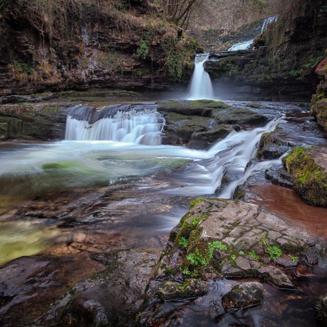 """""""Waterfall country, South Wales"""" stock image"""