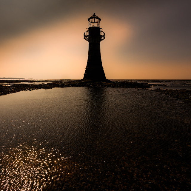 """""""Whiteford lighthouse Gower"""" stock image"""