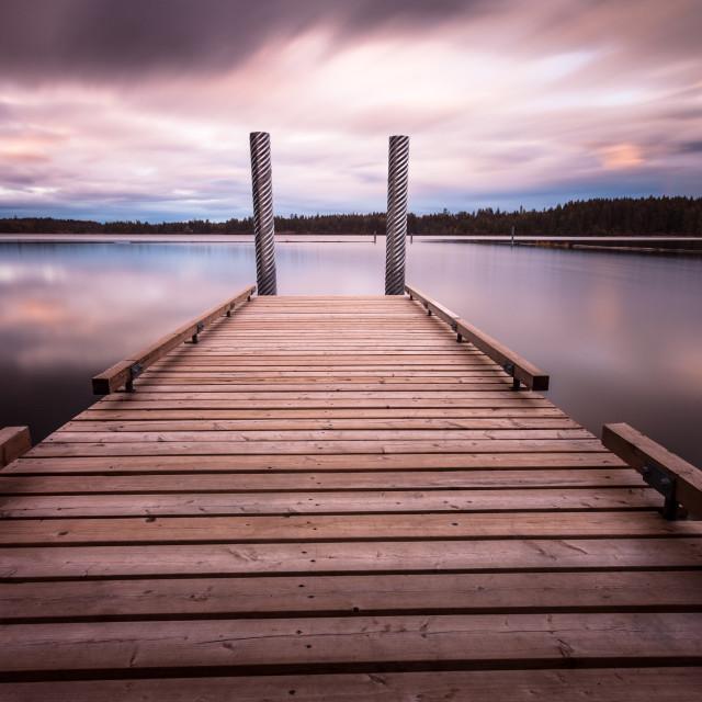 """Comox lake Vancouver island"" stock image"