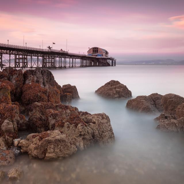 """Mumbles pier, Swansea"" stock image"