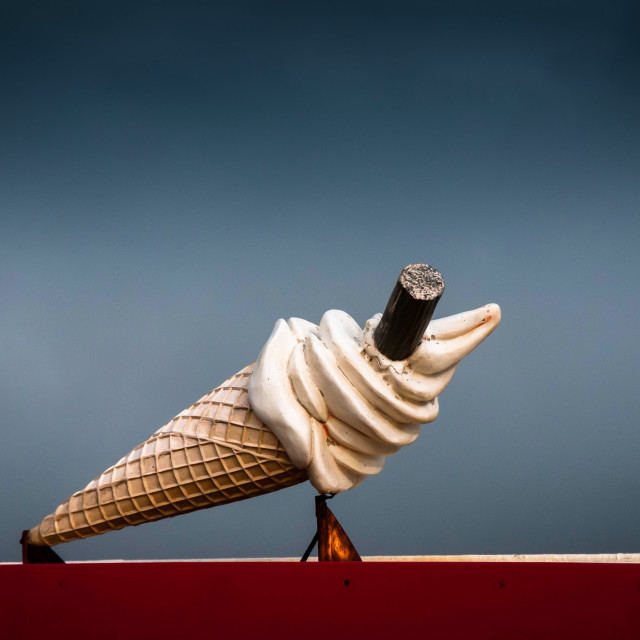 """Ice cream van"" stock image"