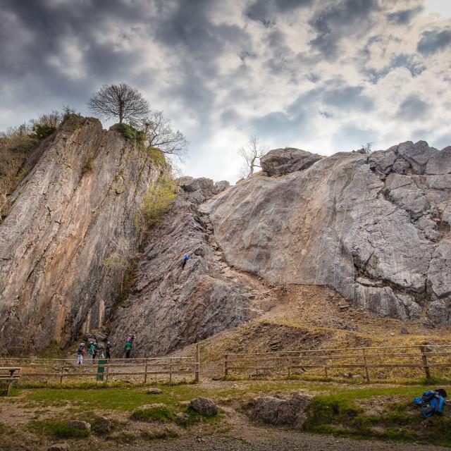 """""""Dinas Rock"""" stock image"""