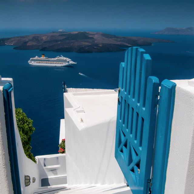 """Santorini cruise"" stock image"