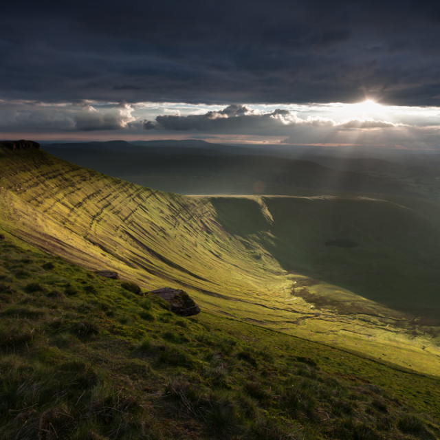 """Corn Du from Pen y fan"" stock image"