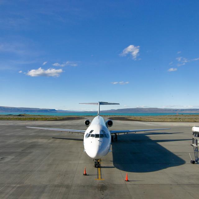"""""""El Calafate airport"""" stock image"""