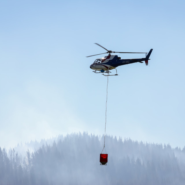 """helicopter with monsoon bucket"" stock image"