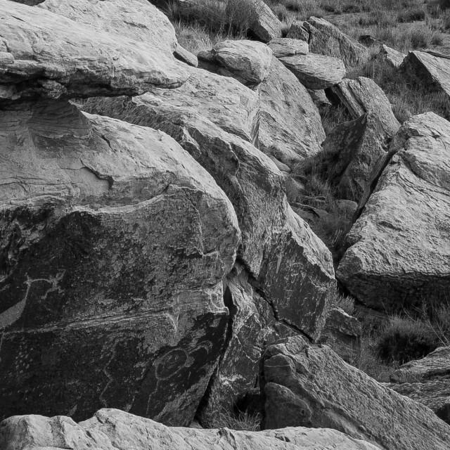 """Petroglyphs"" stock image"