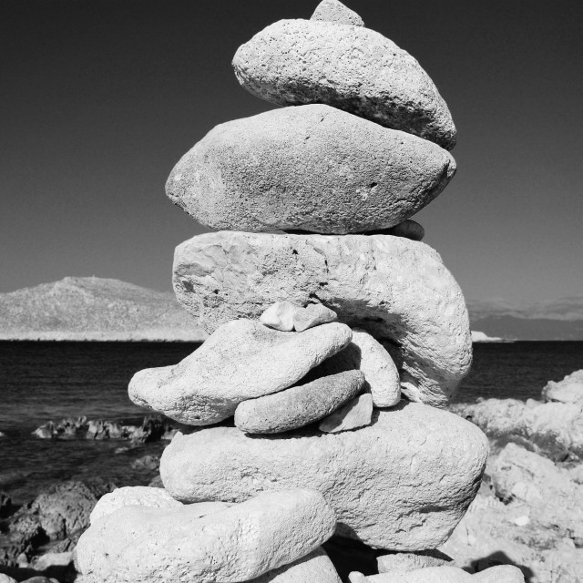 """Stone tower, Greece"" stock image"
