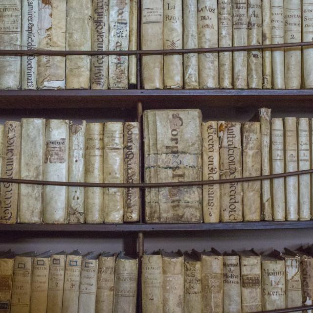 """""""Antique books"""" stock image"""