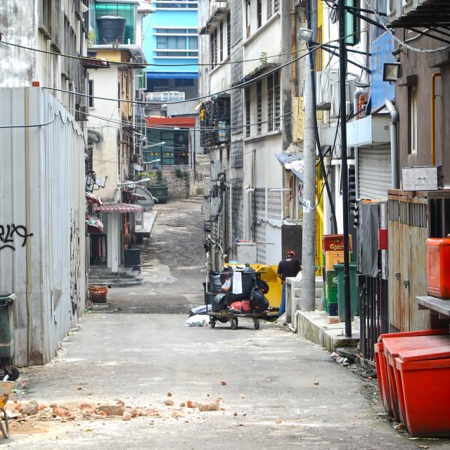 """Alleyway in Kuala Lumpur"" stock image"
