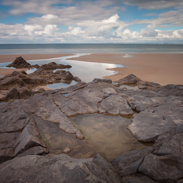 """Broughton Bay rockpool"" stock image"