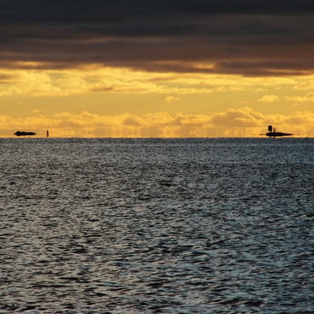 """Islands in the horizon"" stock image"