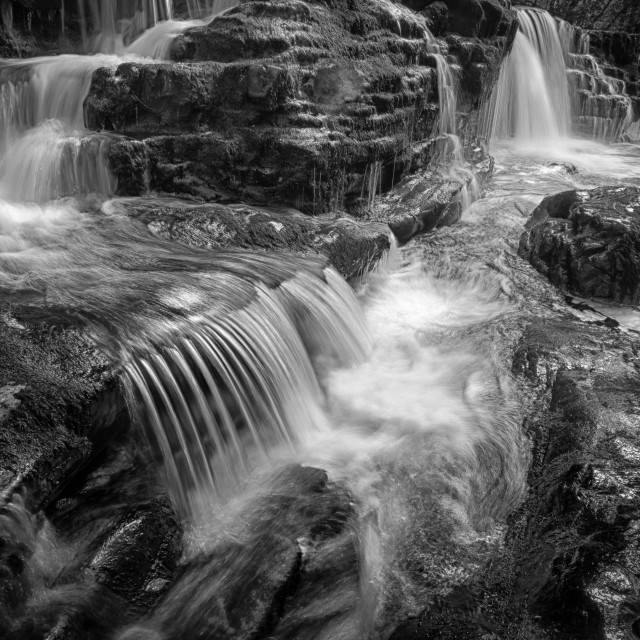 """""""Waterfall country South Wales"""" stock image"""