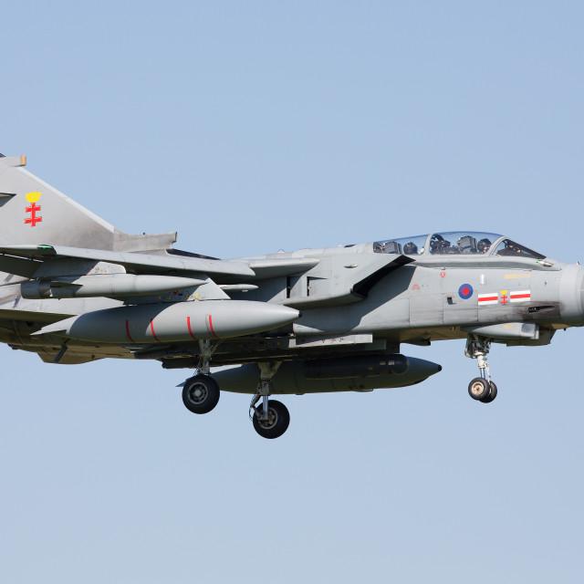 """RAF Tornado GR4 41 TES Sqn"" stock image"