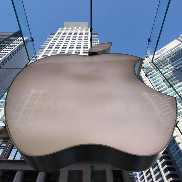 """Apple logo store Sydney"" stock image"