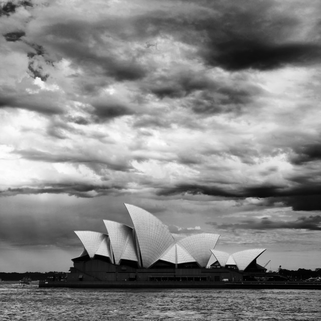 """Sydney Opera with clouds"" stock image"