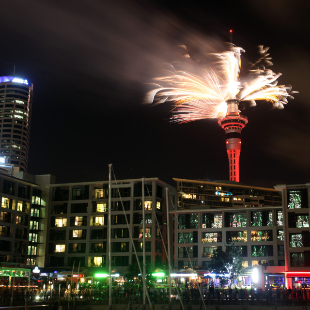 """Auckland new years eve fireworks"" stock image"
