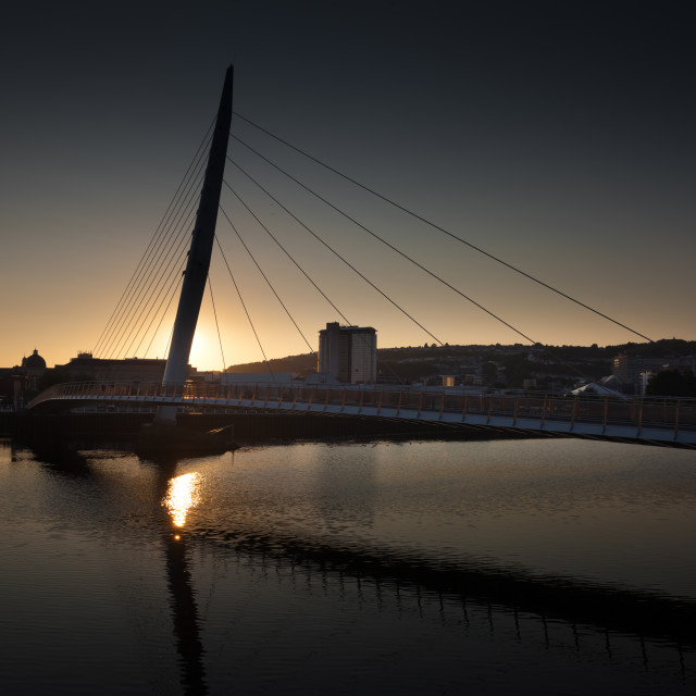 """Millennium bridge Swansea"" stock image"