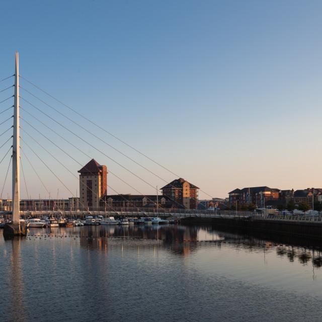 """""""Millennium Sail bridge"""" stock image"""