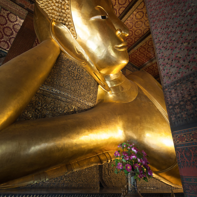"""Reclining Buddha in Bangkok"" stock image"