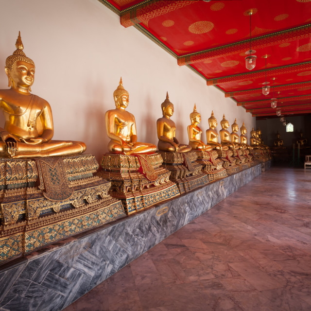 """Golden Buddha Statues"" stock image"