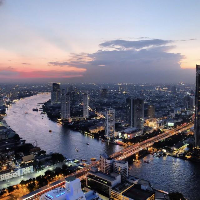 """Bangkok skyline"" stock image"