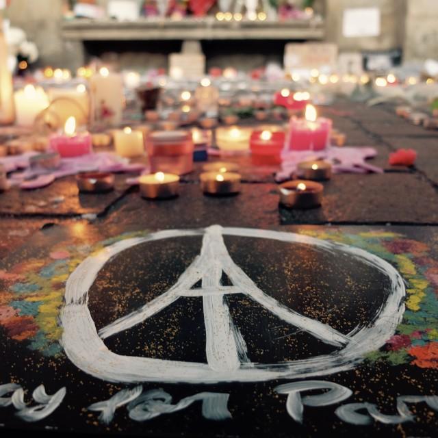 """""""Pray for Paris"""" stock image"""