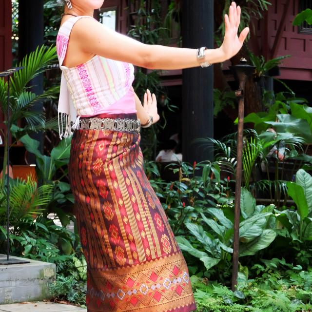 """Thai dancer"" stock image"