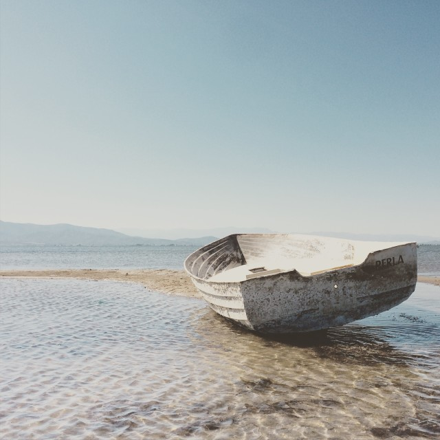 """boat on the shore"" stock image"