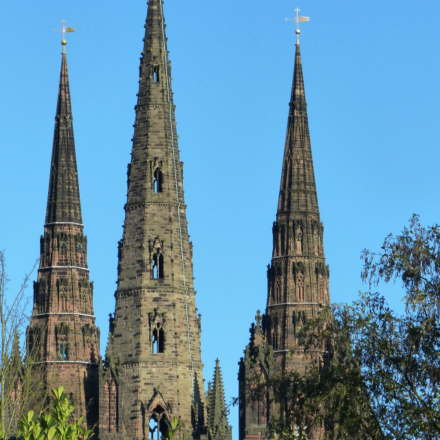 """Lichfield three spire Cathedral."" stock image"