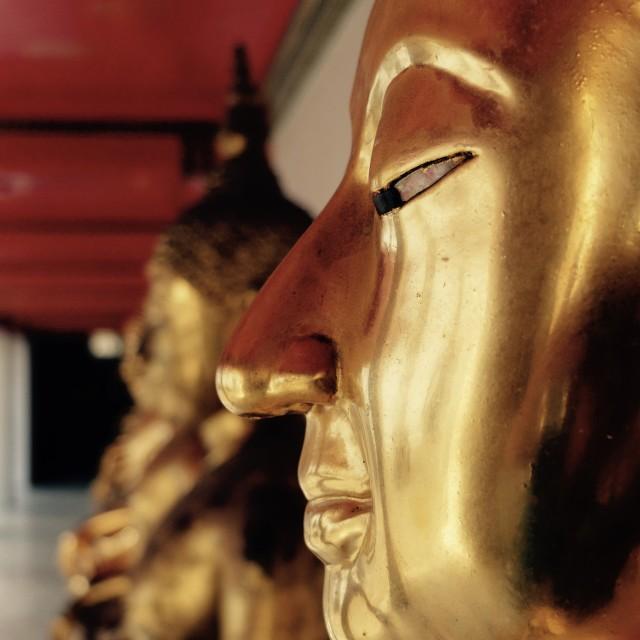 """Buddha heads"" stock image"