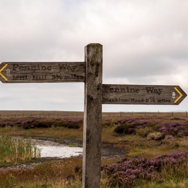 """Hiking signpost"" stock image"