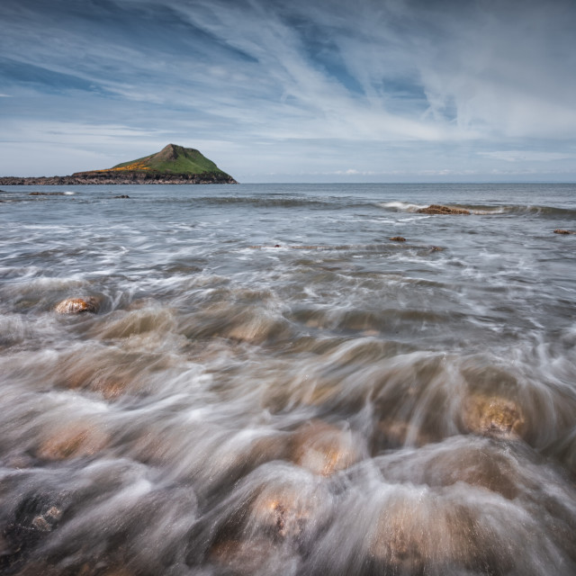 """Worm's head on the Gower peninsula"" stock image"