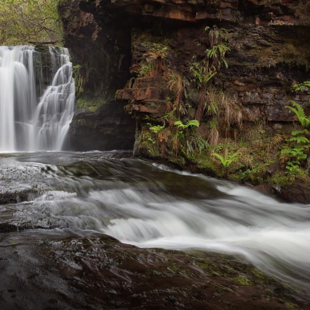 """Sgwd Ddwli Isaf waterfalls"" stock image"
