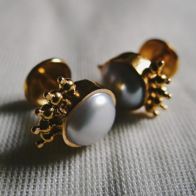 """Golden Ear studs"" stock image"