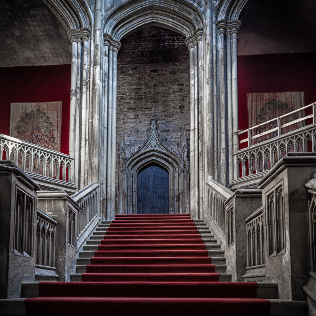 """Margam Castle staircase"" stock image"