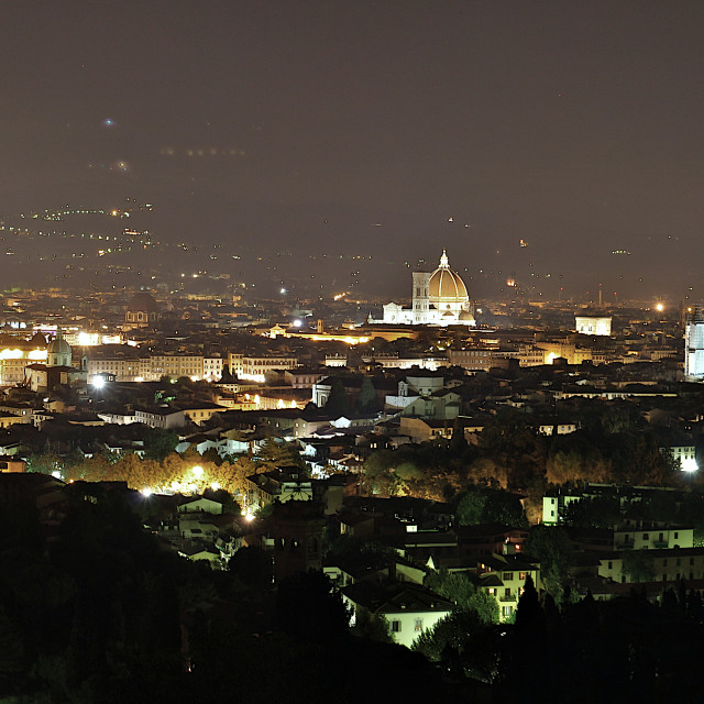 """Florence at Night"" stock image"