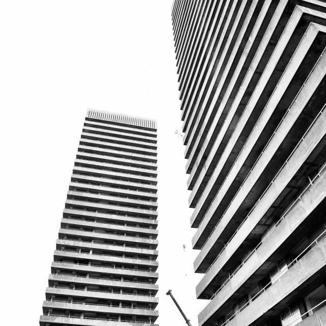 """Whitevale Tower Blocks"" stock image"