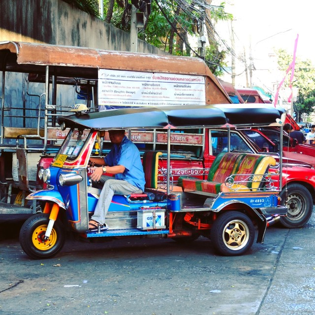 """Tuk-tuk ready to go!"" stock image"