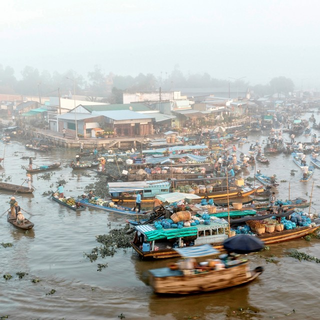 """Nga Nam floating market"" stock image"