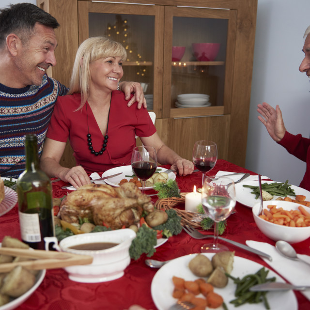 """""""Family time in christmas time"""" stock image"""