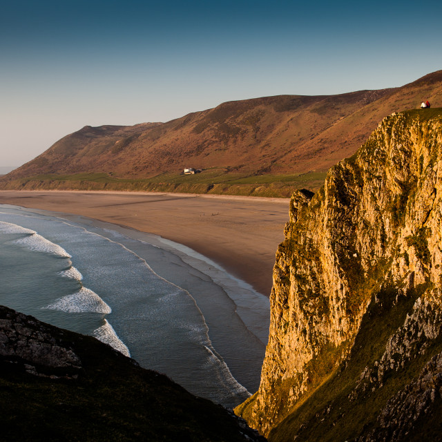 """Rhossili Bay Gower"" stock image"