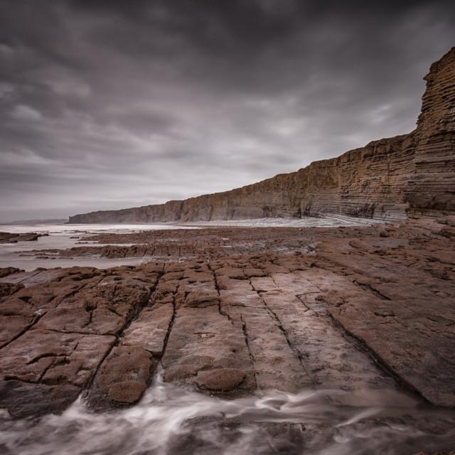 """South Wales Heritage coast"" stock image"