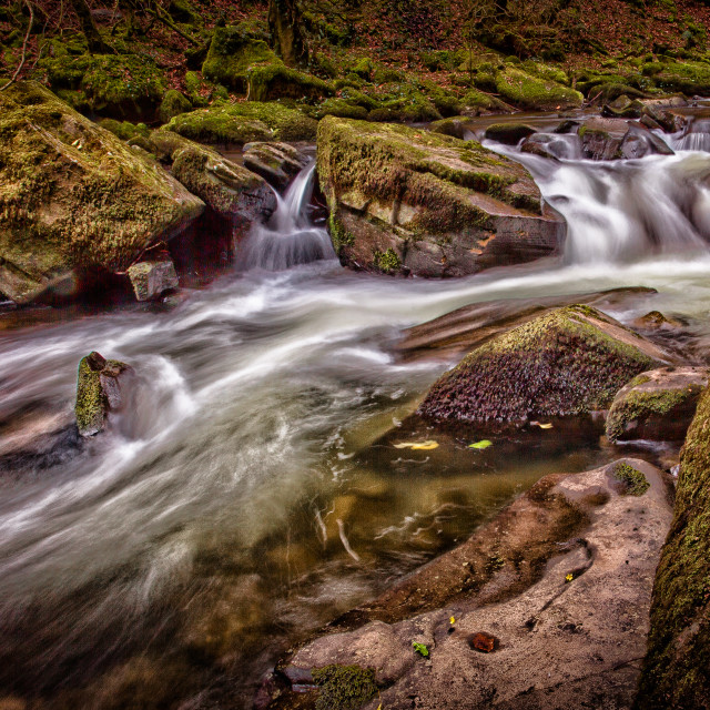 """River Clydach at Pontardawe"" stock image"