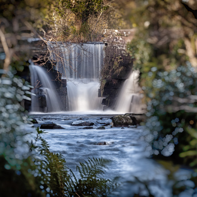 """Penllergare waterfalls Swansea"" stock image"