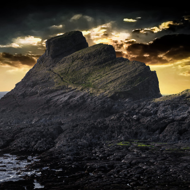 """""""Worms Head sunset"""" stock image"""