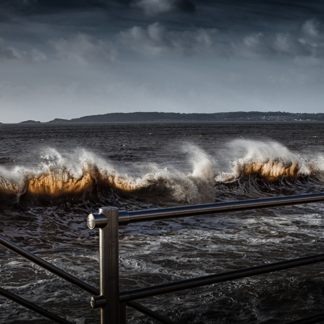 """Swansea Bay waves"" stock image"