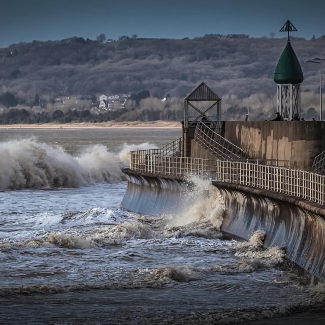 """""""Swansea Bay promenade"""" stock image"""