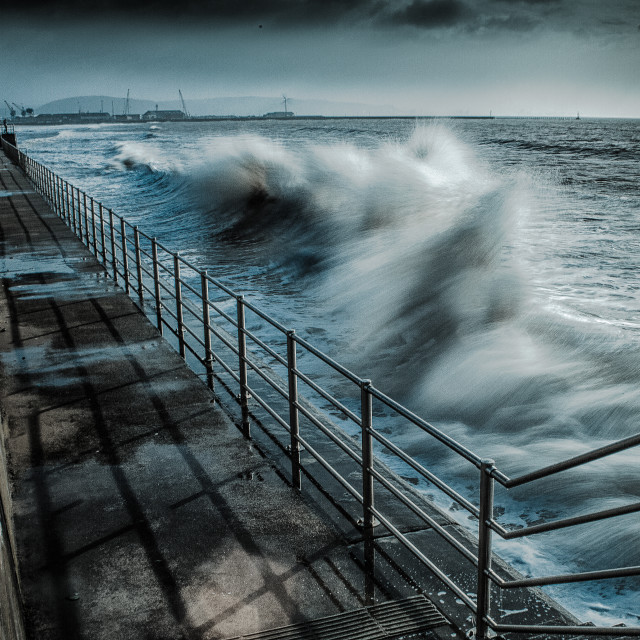 """Swansea promenade"" stock image"
