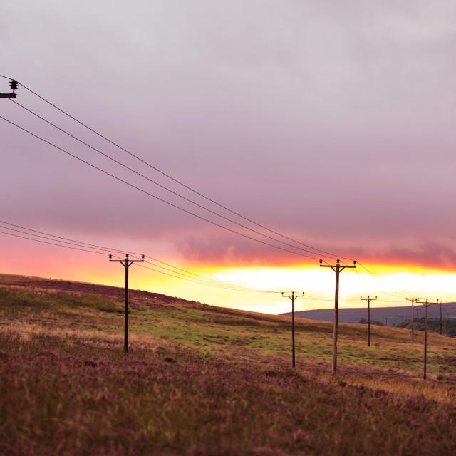 """Tinto Sunset"" stock image"